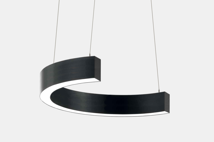 Серия Ring-C. Светодиодный светильник-полукольцо купить в Казани